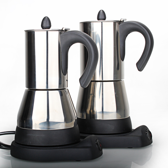 New Arrival High Quality Stainless steel Electrical Moka Pot