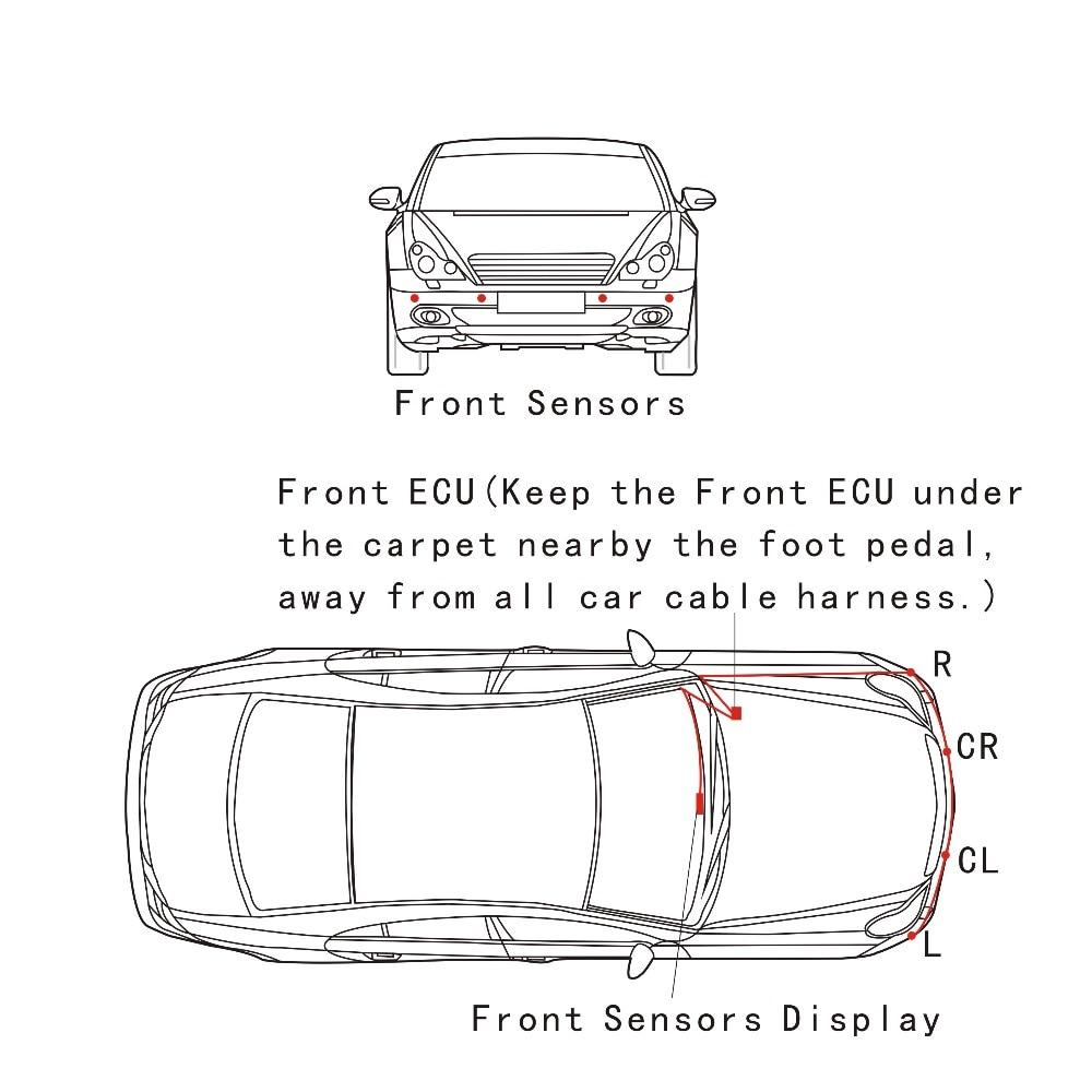 Sürətli idarə olunan ön parkinq sensörü OBD Plug & Play No Tel - Avtomobil elektronikası - Fotoqrafiya 4