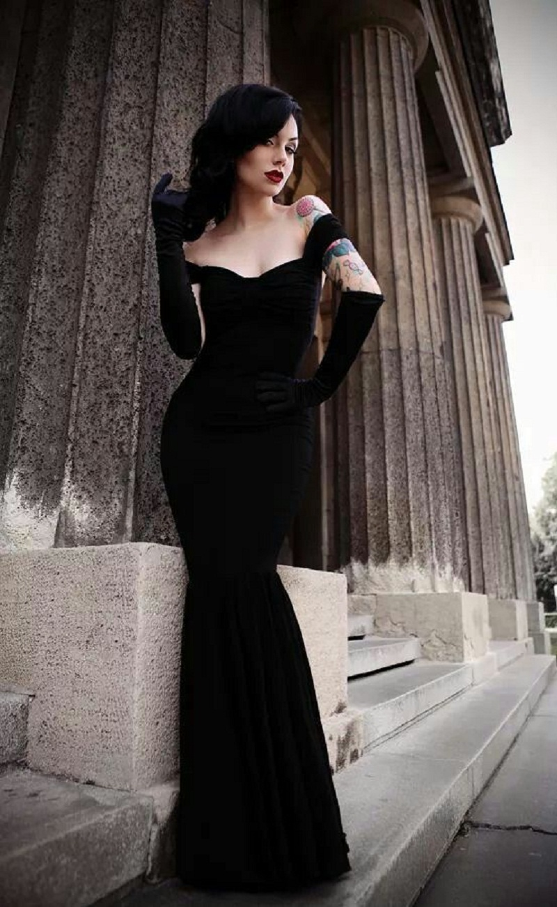 Popular Black Gothic Prom Dresses-Buy Cheap Black Gothic Prom ...