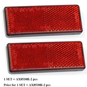 Image 1 - 2 piezas reflector rojo rectangula reflejan tira para camión remolque camión autobús RV caravana campamento bicicleta auto adhesivo auto Accesorios