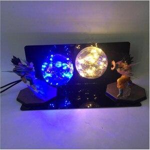 Image 3 - Dragon Ball Figure AC 110V/220V LED Table Lamp Optional Lighting Color Replaceable Light Bulb Cartoon Model Night Light