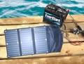 20 Watt Folding Solar Panel with 10 Amp Solar Controller+12V Car/Boat/Yacht/Jetski Battery Charger+Phone/Laptop Charger