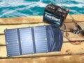 O envio gratuito de 18 Watt painel Solar dobrável com 10 Amp controlador + 12 V carro / barco / iate / Jetski carregador de bateria + fone / carregador portátil