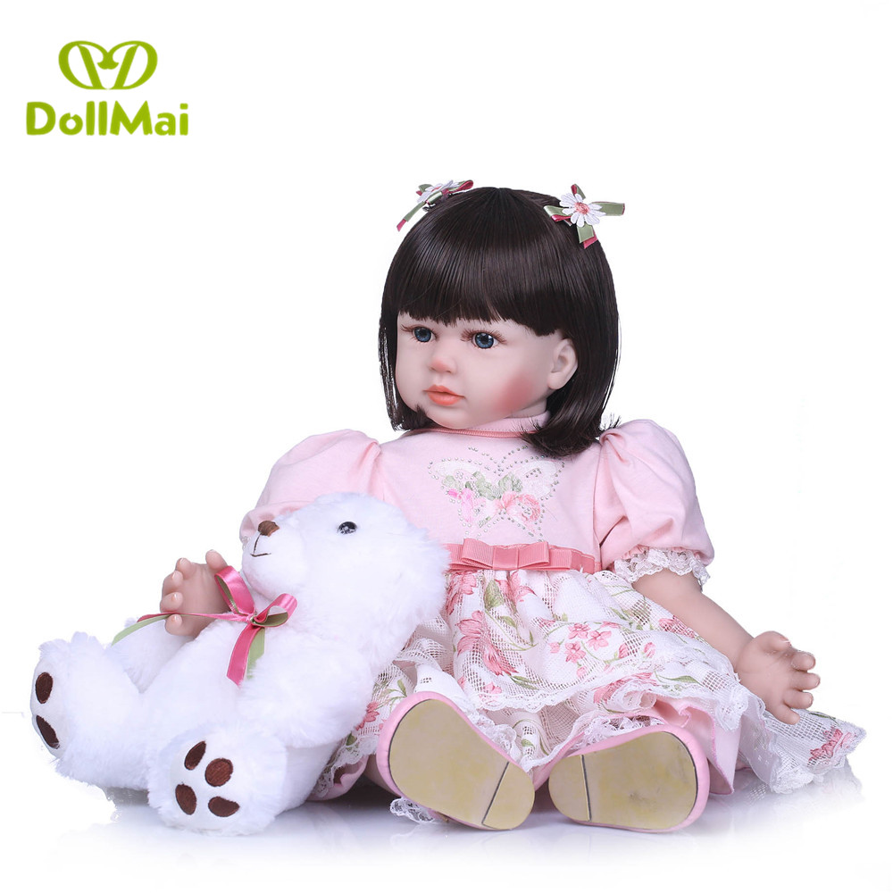 Princess adorable doll for girls 58cm vinyl silicone reborn baby toddler dolls alive BJD dolls toys for child bebe gift rebornPrincess adorable doll for girls 58cm vinyl silicone reborn baby toddler dolls alive BJD dolls toys for child bebe gift reborn
