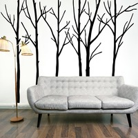 Extra Large Black Tree Branches Wall Art Mural Decor Sticker Transfer Living Room Bedroom Background Wall Decal Poster