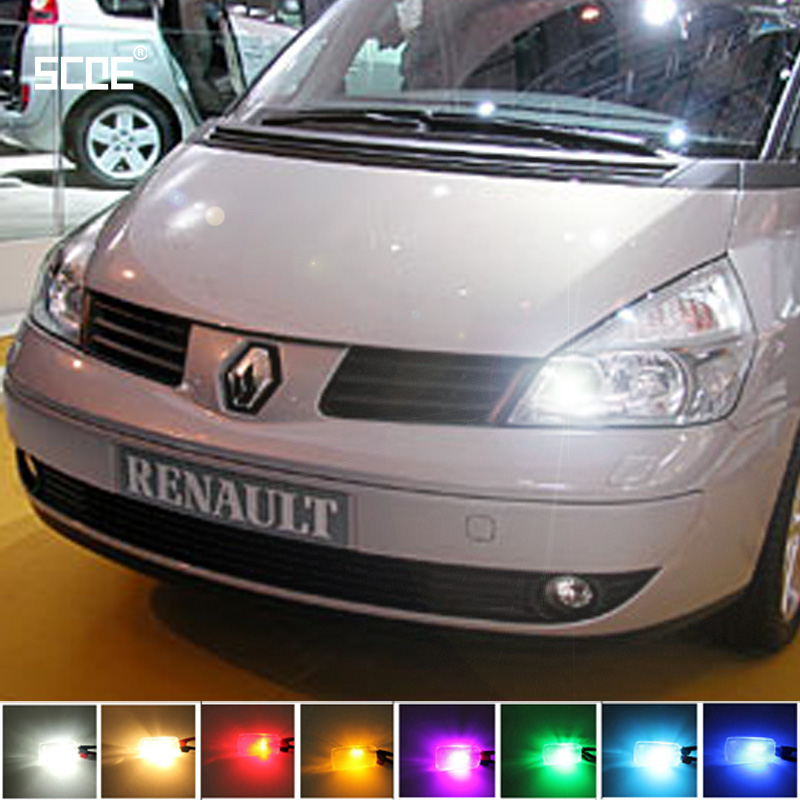 For Renault Espace IV Fluence Kangoo SCOE 2015 New 2X 12SMD LED Front Parking Light  Front Side Marker Light Source Car Styling 1 18 otto renault espace ph 1 2000 1 car model reynolds