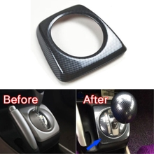 Auto Interior Mouldings Carbon Fiber Colors Console Gear Shift Cover Trim Frame For Honda Civic 2006-2011 AT Model Car Styling