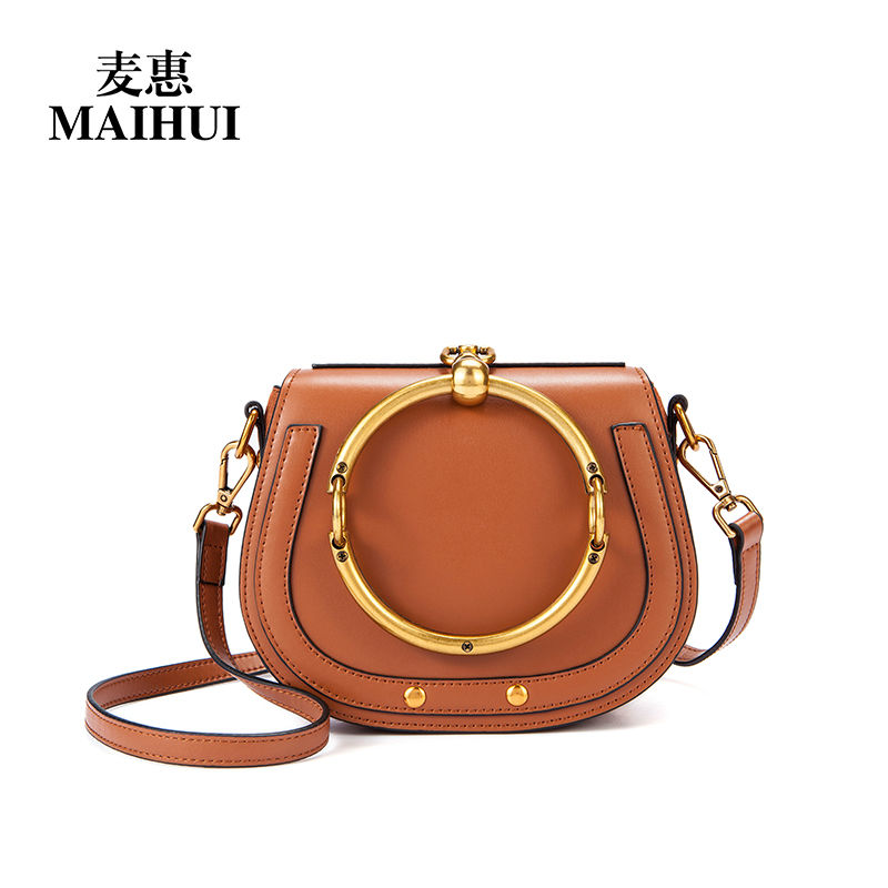 Designer handbag high quality shoulder crossbody bags for women messenger 2017 new fashion real cow genuine leather saddle bag fashion women leather handbag crossbody shoulder messenger phone coin bag for party or appointment as designer gift a7