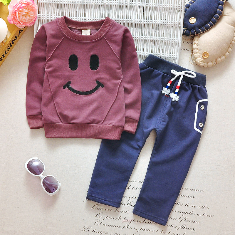 Kids 2017 Korean version of the new autumn boys and girls sports suit baby cotton leisure 2 setss suit for a boy