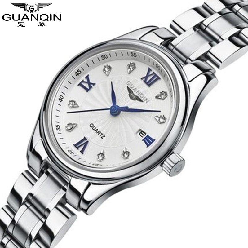 Marque Hardlex GUANQIN montre diamant Quartz montres femme filles montre 2017 de luxe femmes robe strass dame montre horloge femmes