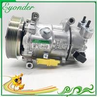 6C12 AC A/C Air Conditioning Compressor Cooling Pump for Peugeot 207 SW Van 1.4 1.6 207 CC 1.6 648708 9670318880 6453QJ 6453QK