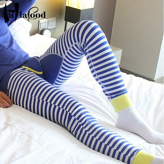 Venta caliente Barato Nuevas Marcas de Los Hombres Gran Pant Alta Calidad ropa interior de Moda Sexy Pantalones Calientes de Algodón Tocando Fondo Delgada Masculina Larga Johns