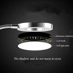 Image 5 - Permanent Make Up Augenbrauen Tattoo LED Lampe Ausrüstung mit Clamp USB Kalten Licht Einstellbar Lampe Microblading Zubehör Liefert