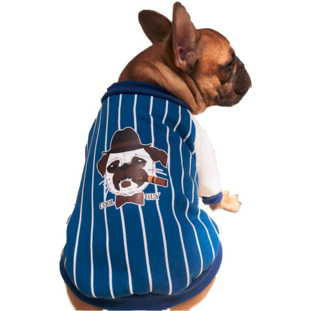 New Arrival Striped Bulldog Coat Pet Dogs Two Legs Cotton Coat Small Puppy Dogs Clothing