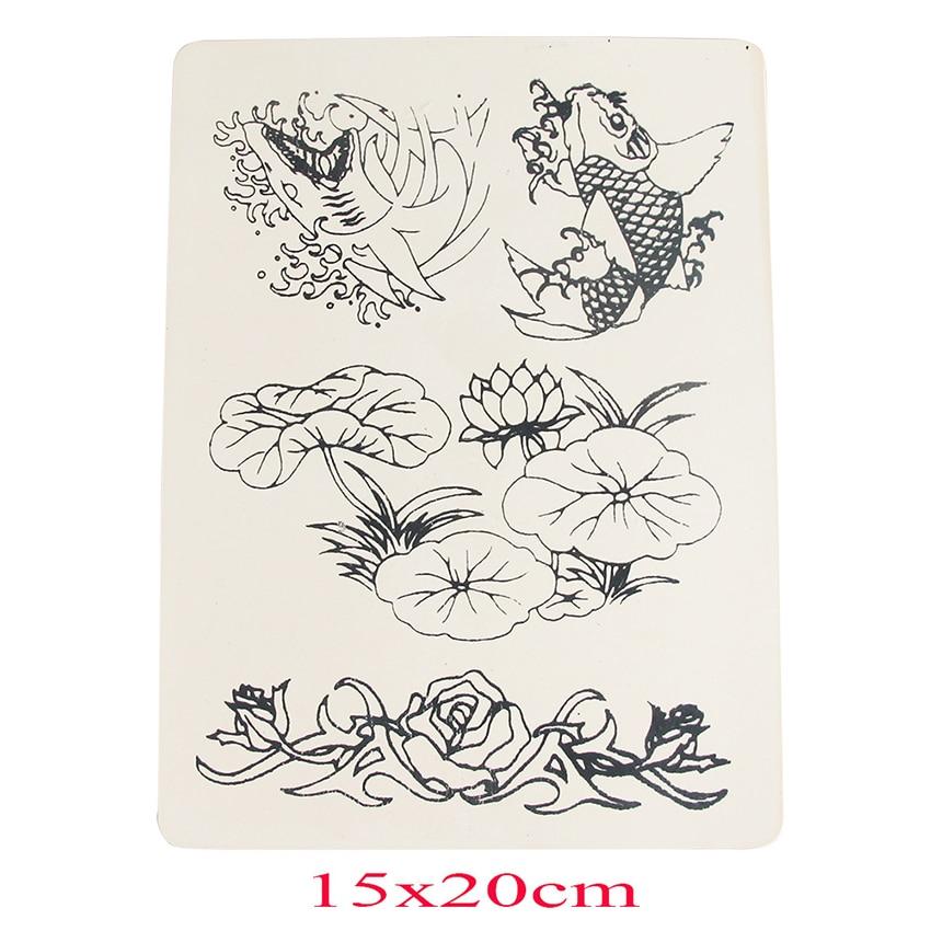 ᗜ Ljഃ50 pcs/llot fleur poissons tatouage peaux pratique pour