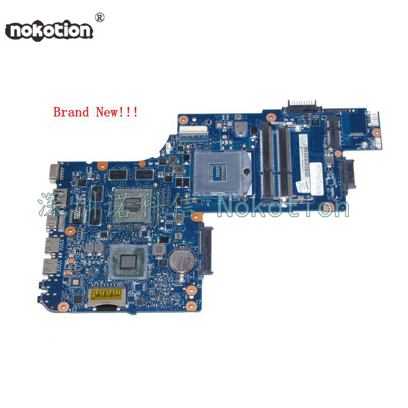NOKOTION Brand new H000050770 Laptop Motherboard for toshiba C850 15 inch HD4000+ATI HD 7600m series Mainboard nokotion for toshiba satellite c850 laptop motherboard 15 6 hm77 hd4000 graphics ddr3 mainboard h000052600