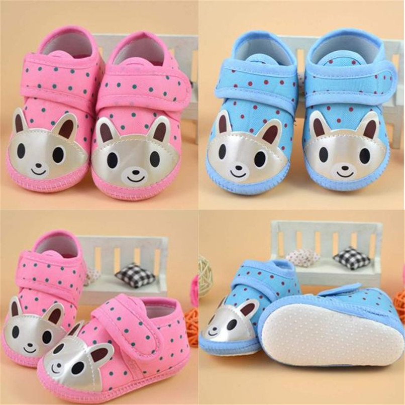 Newborn Girl Boy First Walker Soft Sole Crib Toddler Shoes Canvas Sneaker NDA84L16 ...