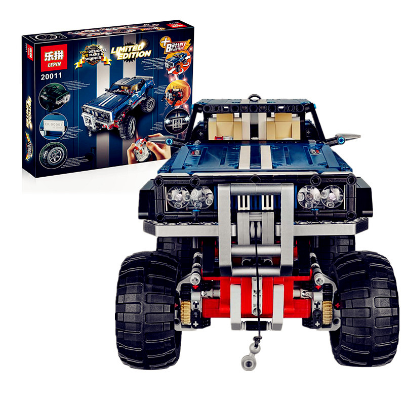 IN STOCK lepin 20011 1605pcs technic remote control electric off-road vehicles building block toys compatible with 41999