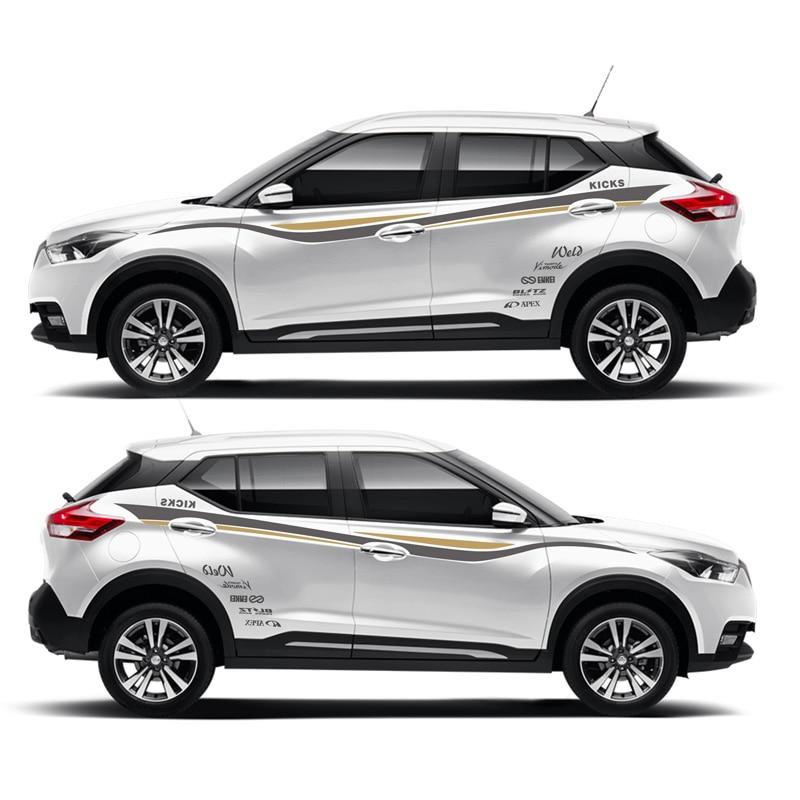 все цены на TAIYAO car styling sport car sticker For Nissan KICKS SPORT Mark Levinson car accessories and decals auto sticker