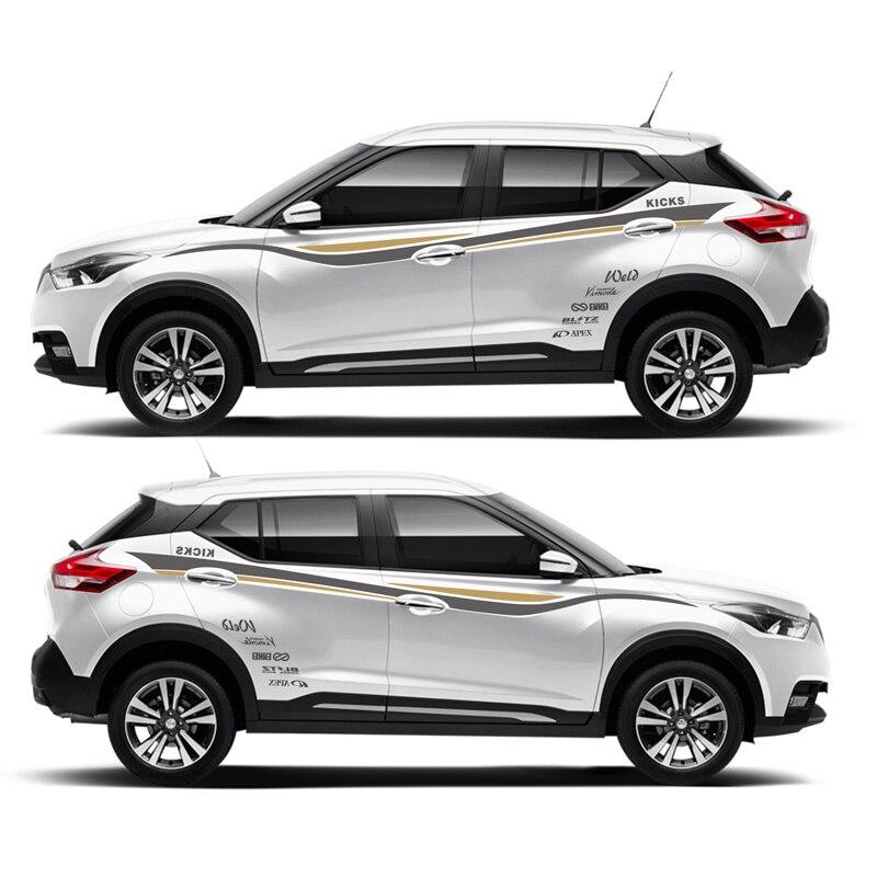 TAIYAO voiture style sport voiture autocollant pour Nissan coups de pied SPORT marque Levinson voiture accessoires et décalcomanies auto autocollant