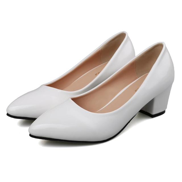 2017 Small Size 31-39 Patent Leather White Sexy High Heels Women Pumps Ladies Shoes Woman Chaussure Femme Black Red Optional