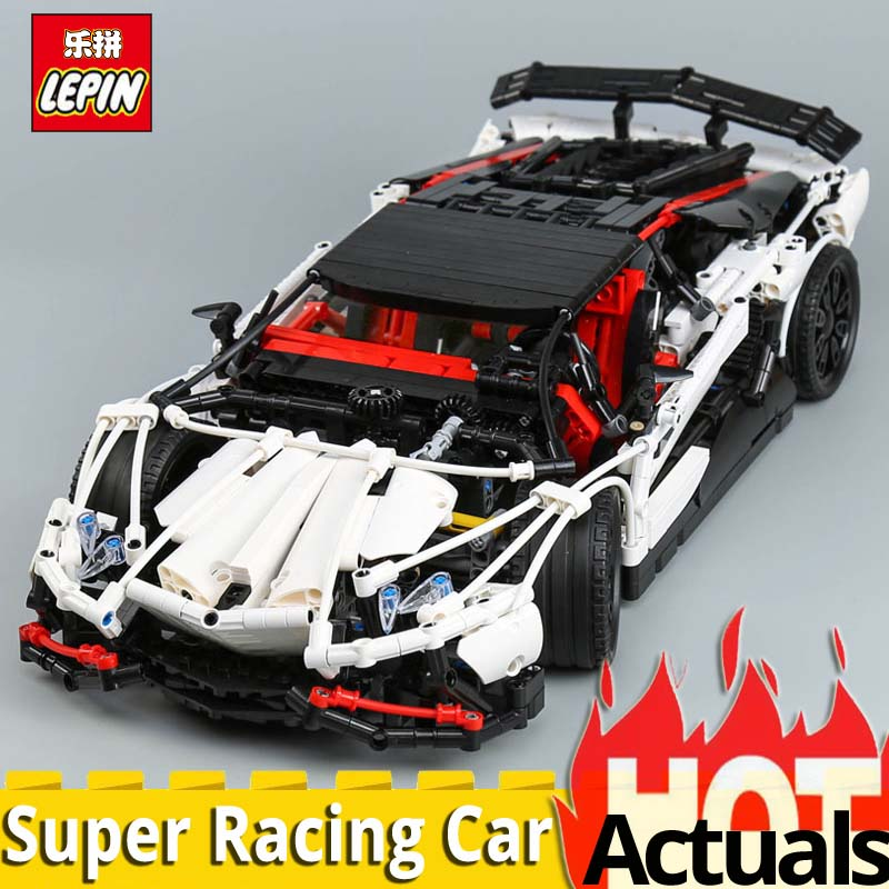 DHL lepin technic 23006 Super Racing Car Mode Set compatible legoinglys MOC 3918 Building Blocks Toy christmas gift boys toys