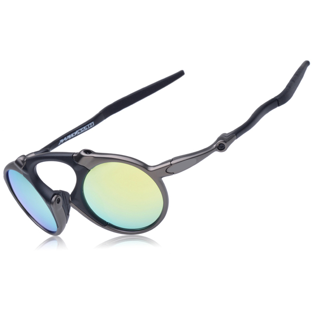 a225463cf2a Madman Badman Cycling Glasses Mirro Lens Metal Alloy Frame Retro Bicycle  Eyewear Sunglasses Bike Sporting Riding Goggles OO6019