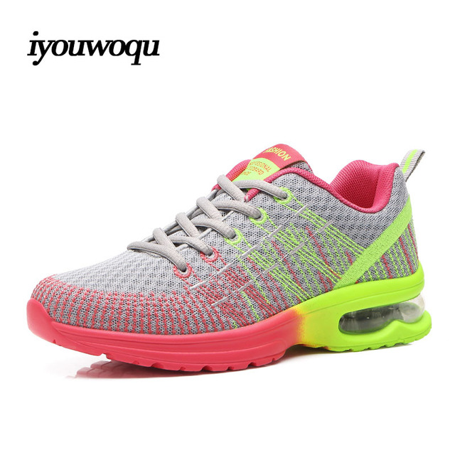 Fashion Women's Casual Shoes autumn 2016 New Breathable damping Height Increasing trainers Take a walk fitness feminino shoes