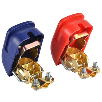 2PCS/pair Jump Starter Quick Release Battery Terminals Connector Clamps 12V Car Battery Jump Start Connector Positive Negative universal car battery terminal connector battery 2pcs quick release battery terminals clamps toggle switch parts for truck auto