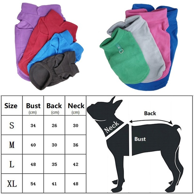 Winter Fleece Warm Dog Vest