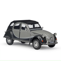 1:24 Scale Metal Alloy Classic Car Diecast Model CITROEN 2CV 6 Charleston Toy Collection Toy for Kids