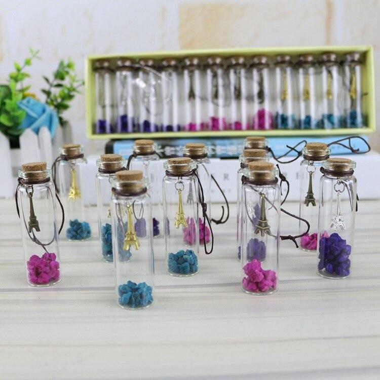 Gutherzig Neue Kreative Geschenke Nette Mini Klarglas Korken Wishing Flaschen Fläschchen Jars Turm Kleine Vintage Ornamente Handwerk Dekoration SorgfäLtige FäRbeprozesse Ornamente
