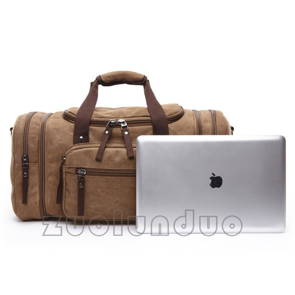original z.l.d lona homens bolsa Description 1 : Canvas Leather Travel Bags