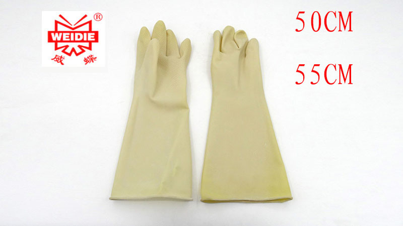 50-55CM white black latex gloves high quality Cuffs thin Thicker safety gloves working Acid and alkali protective gloves mool 300pcs nail art latex rubber finger cots protector gloves white
