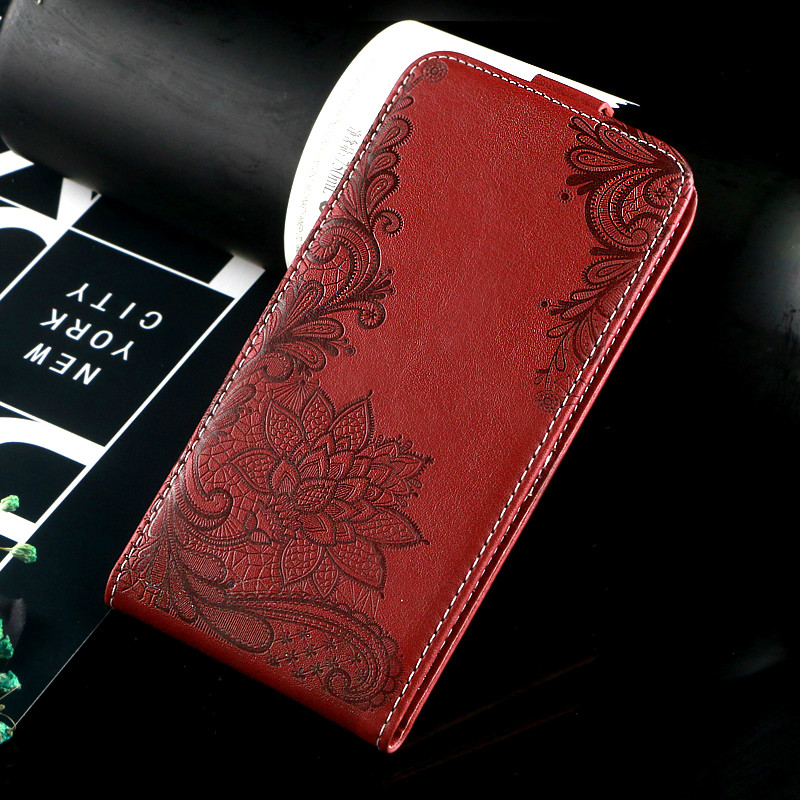 Vintage Business Embossed flower butterfly towel flip up and down leather case cover for XOLO Era 2V
