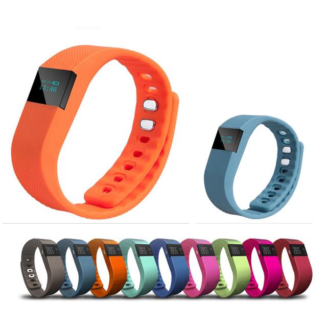 Nueva tw64 gimnasio actividad rastreador bluetooth 4.0 flex smart watch deporte pulsera inteligente podómetro pulsera para ios sistema android