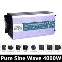 Сетка Tie 4000 Вт чистый синусоидальный инвертор, DC 12 В/24 В/48 В к AC110V/220 В решетки солнечных инвертор, преобразователь напряжения работать с Батар