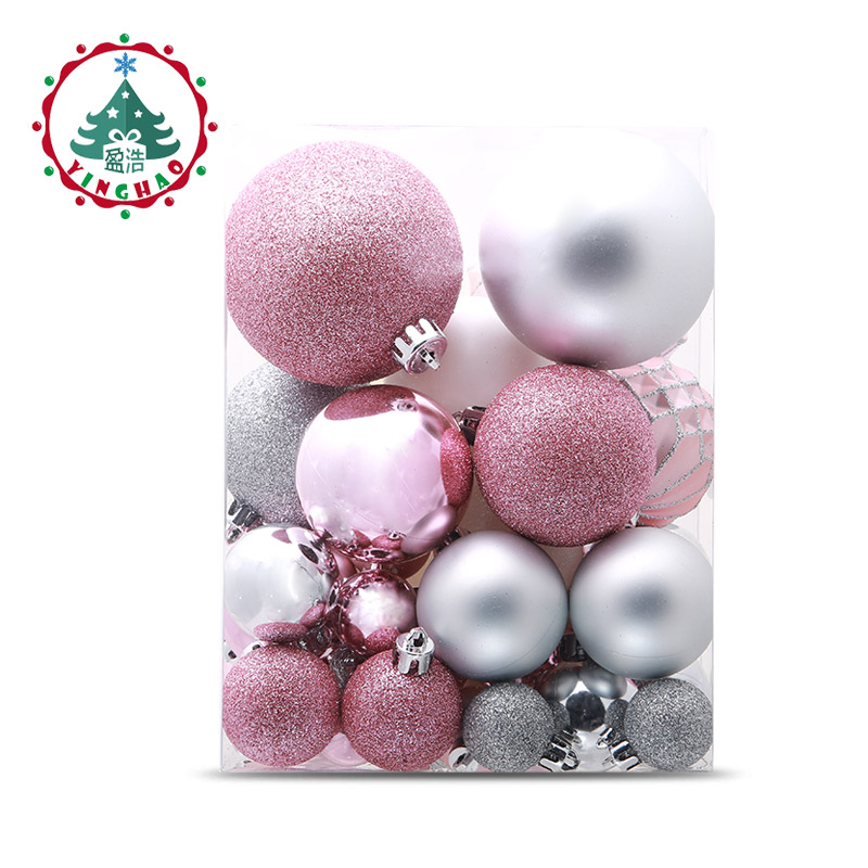 inhoo Christmas Tree Decoration Ball Ornaments Pendant Accessories 49pcs Silver powder Ball Decor For Christmas Home Party 2019