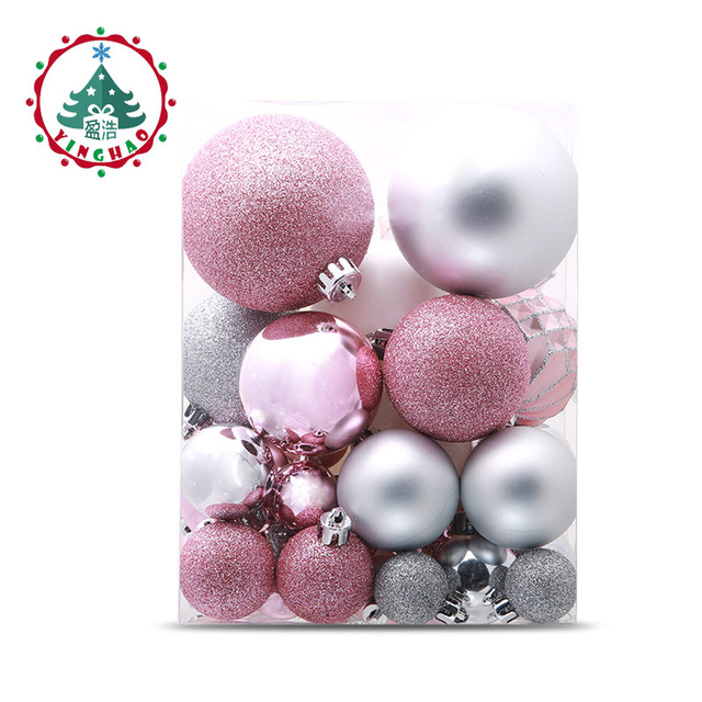 Inhoo Christmas Tree Decoration Ball Ornaments Pendant Accessories 49pcs  Silver Powder Ball Decor For Christmas Home