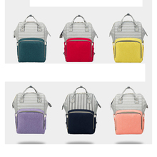 Striped Mummy bag multi-function diaper fashion mother Bao Ma out backpack high-capacity and baby