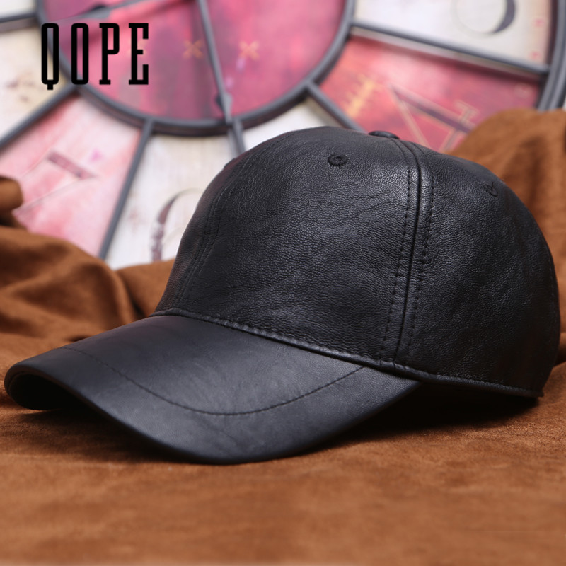 2017 NEW   wholesale Black PU Leather Baseball Cap Hip Hop caps gorras Snapback Hat Biker Trucker Outdoor Sports For Men women new england patriols sports hat caps american football team logo snapback baseball cap hat christmas gift for man and woman