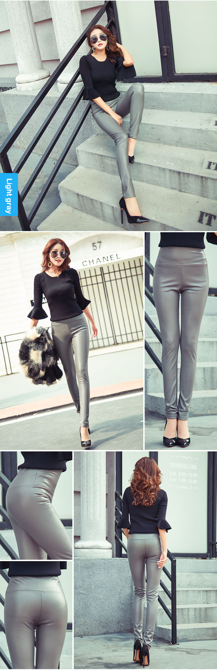 Autumn Winter Women Thin Velvet PU Leather Pants Female Sexy Elastic Stretch Faux Leather Skinny Pencil Pant Women Tight Trouser 43