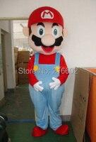 Маскарадные костюмы Супер Марио и Луиджи Маскоты костюм для взрослых Размеры Бесплатная доставка