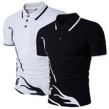 Vogue Для мужчин рубашки поло короткий рукав Повседневное хлопок сплошной Цвет Anti-shrink Для мужчин рубашки поло плюс Размеры облегающие футболки поло Для мужчин хорошее