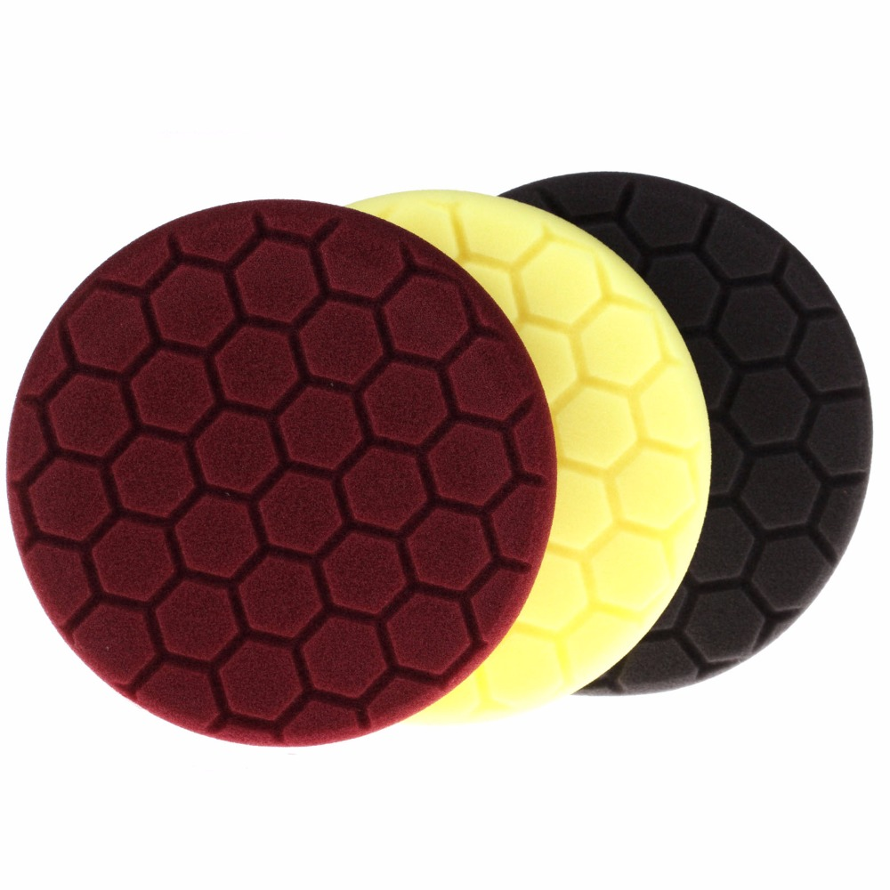 SPAT 2Pcs Brown/Black/Yellow 6Inch (150mm) Hardness Heavy Cut Buffing Pad Polishing Pad Kit For Car Polisher---Select Sets