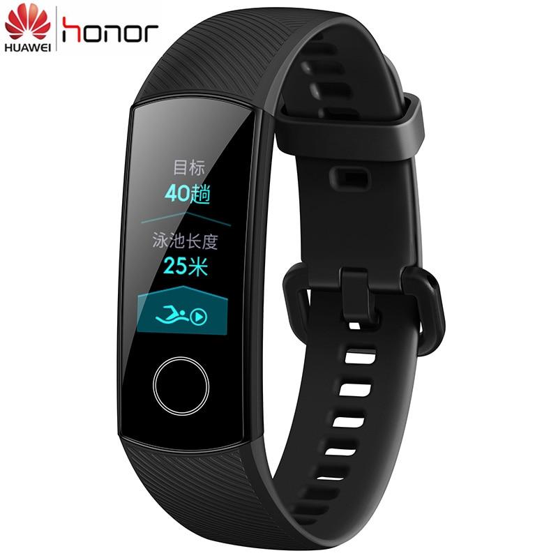 En Stock Original Huawei Honor Band 4 Bracelet intelligent 50 m couleur imperméable à l'eau ouch écran fréquence cardiaque sommeil Snap Bracelet intelligent