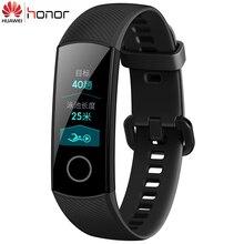 В наличии оригинальный huawei Honor Band 4 умный Браслет 50 м водостойкий цветной сенсорный экран пульсометр сна кнопки умный браслет