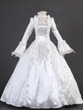 2015 Brand New White Adult Cotton/Rayon Lace 18th Century Renaissance Victorian Ball Gown/Party Dresses