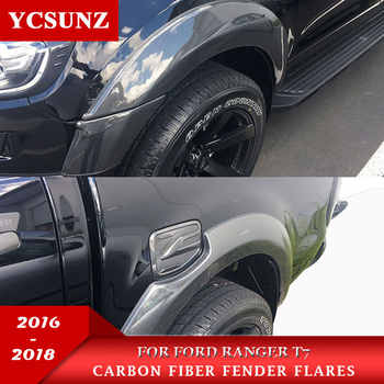 6 Inch Fender Flares With Carbon Fiber Color Mudguards For Ford Ranger Wildtrak T7 2016 2018 2018 Double Cabin - DISCOUNT ITEM  30% OFF All Category