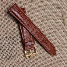 Высокое качество натуральной кожи ремешок для часов ремни браслет с пряжкой мода ящерицы зерна 20 мм горячие часы аксессуары